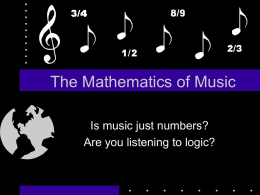 The Mathematics of Music