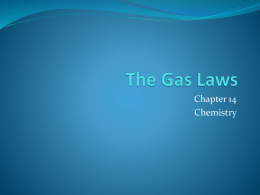 The Gas Laws - iss.k12.nc.us
