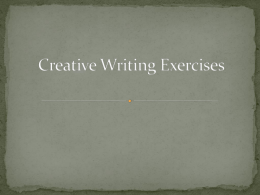 Short Creative Writing Prompts