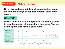 Make and test a conjecture about the sign of the