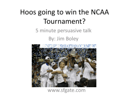 Hoos going to win the NCAA Tournament?