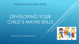 Supporting Families to build Mathematical skills in their child