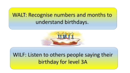 birthdays - listening and speaking
