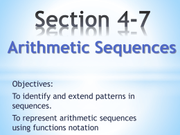 A) An arithmetic sequence is represented by the