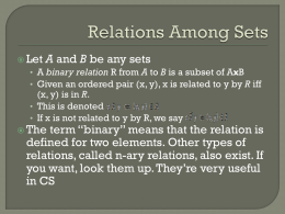 Relations/Functions Overview