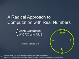 A Radical Approach to Computation with Real Numbers