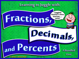 Converting Fractions to Decimals PPT