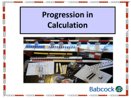Progression In Calculation powerpoint slides PPT File