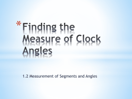 Finding the Measure of Clock Angles Methods