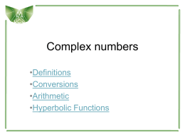 Complex numbers Summary PPTX