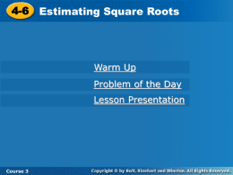 Approximation of Square Roots