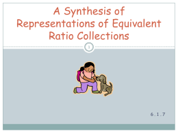 A Synthesis of Representations of Equivalent Ratio