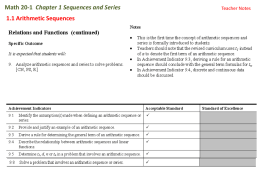 1.1A Arithmetic Sequences