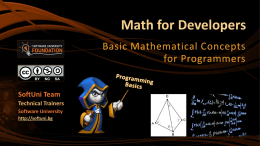 Math for Developers