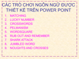 cac tro choi power point