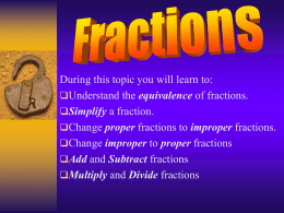Fractions - Holy Rosary Website