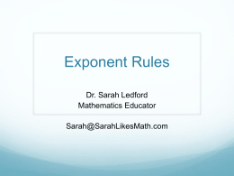 Exponent Rules (PowerPoint)