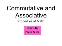 1.4 Properties of Addition and Multiplication
