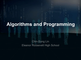 Computational Thinking Presentation 06 Algorithms and