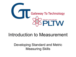 Introduction to English and Metric Measurement