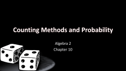 10 Counting Methods and Probabilityx