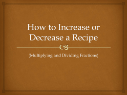 How to Increase or Decrease a Recipe