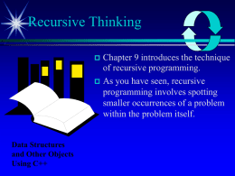 Recursive Thinking - Faculty Web Pages