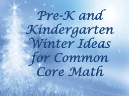 Winter Ideas for Common Core Mathx