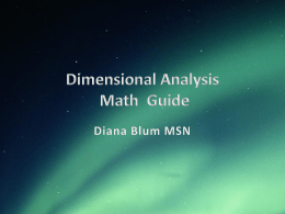 Dimensional Analysis Study Guide