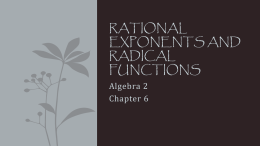 06 Rational Exponents and Radical Functions