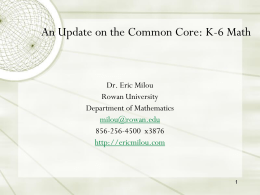 Eric Milou`s K-6 Math Common Core PPT