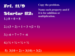 Model of The Distributive Property