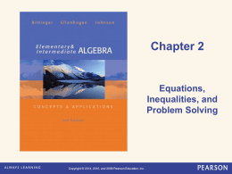 Elementary and Intermediate Algebra 6e