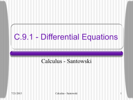C.8.4 - Differential Equations