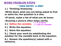 Unit 2 Word Problems PP (blog)