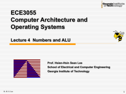 Lec4-alu - ECE Users Pages - Georgia Institute of Technology