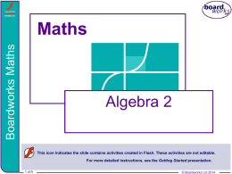 Boardworks Algebra 2 powerpoint