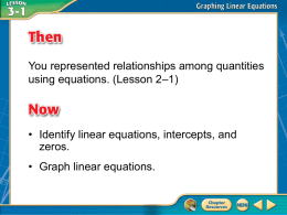B. Determine whether is a linear equation. Write the equation in