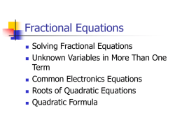 Solving Fractional Equations