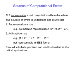 16-Floating Point Errors