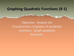 Graphing Quadratic Functions PowerPoint
