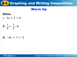 Chapter 3 PPT- Algebrax