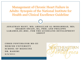 Management of Chronic Heart Failure in Adults: Synopsis of the