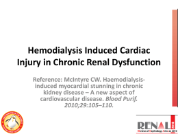 Hemodialysis Induced Cardiac Injury in Chronic Renal