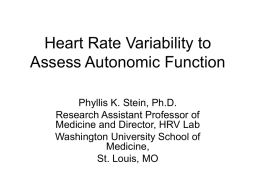 Methods (Heart Rate Variability, Heart Rate Turbulence