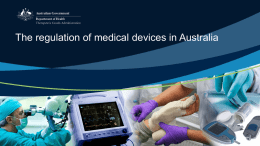 The regulation of medical devices in Australia
