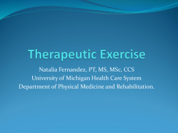 Therapeutic Exercise - University of Michigan–Flint
