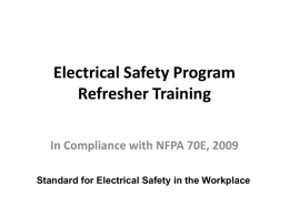 Electrical Safety Program - E Light Safety, Training and