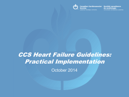 2014 HF Guidelines - Canadian Cardiovascular Society