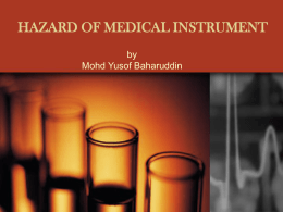 hazard of medical instrument